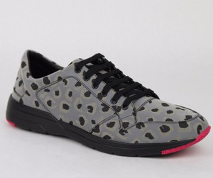 Gucci Gray Reflex Leopard Print Running Sneakers 8.5 G/ Us 9 368485 1400 Shoes