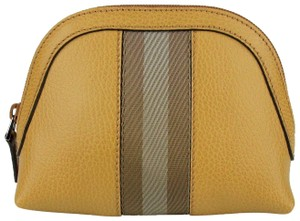 Gucci Whiskey Leather Cosmetic Case with Brown/Beige Web 339558 7766
