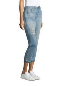 AMO Capri/Cropped Denim-Distressed