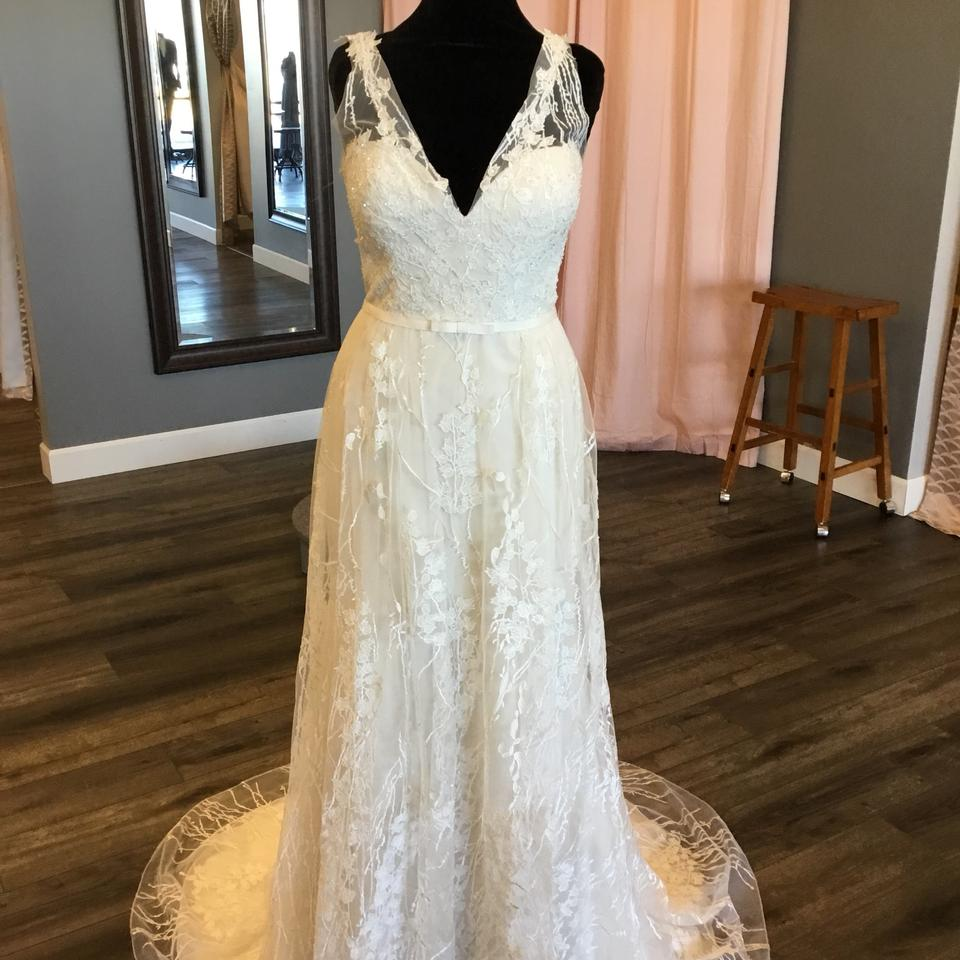86298d38390 Maggie Sottero Ivory Champagne Tulle Lace 8mn446 Belecia Vintage Wedding  Dress