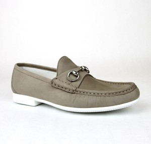 Gucci Dark Beige Horsebit Mens Suede Loafer Moccasin 337060 Bho00 Size 8.5/Us 9.5 Shoes