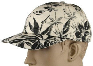 f404f0f33ddd3 Gucci Beige Black Canvas Baseball Cap with Floral Print M 408793 1000