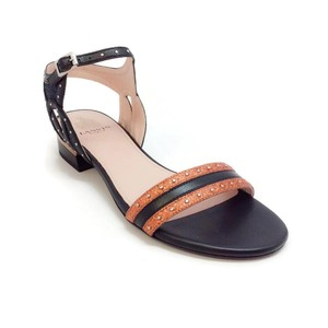 Lanvin Orange Metallic Sandals
