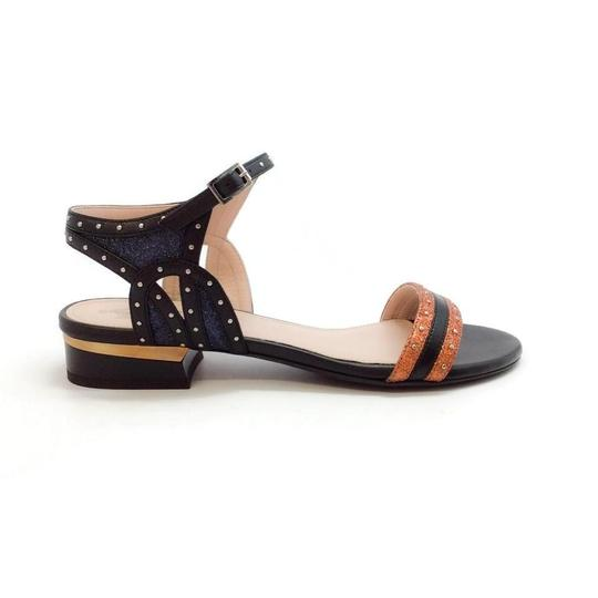 Lanvin Orange Metallic Sandals Image 1