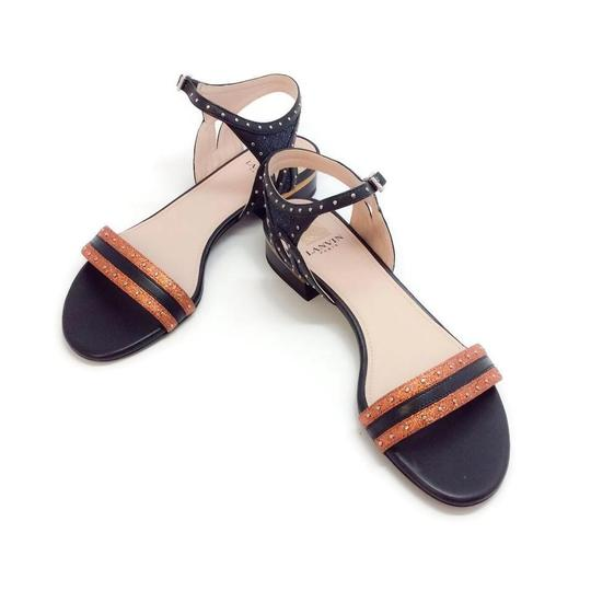 Lanvin Orange Metallic Sandals Image 5