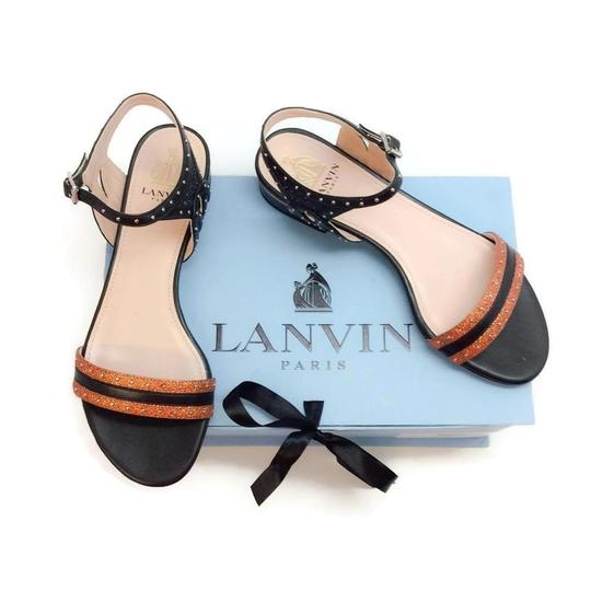 Lanvin Orange Metallic Sandals Image 7