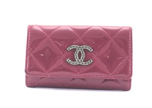 Chanel Quilted Trifold 6 Ring Key Holder CC logo