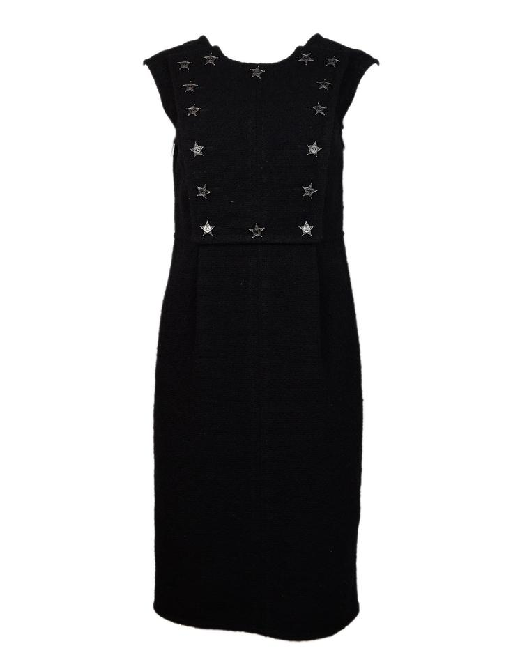 cd1a265f1278 Chanel Black Boucle Sleeveless W  Western Cc Star Panel 40 Mid ...