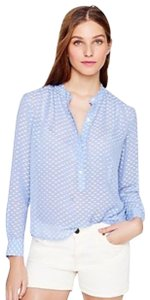 J.Crew Silk Dash-dot Top