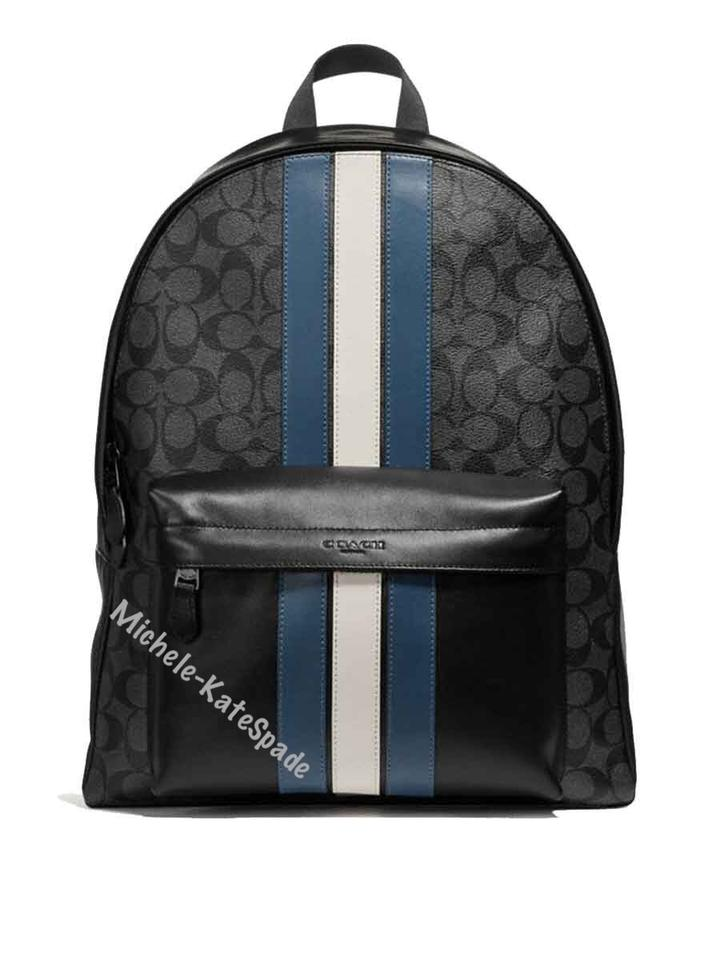 bfcd909f155ac3 Coach Men's Charles In Signature with Stripe F26066 Multicolor Coated Canvas  Backpack