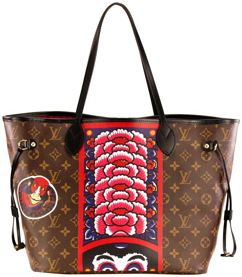 f4d891f6f7 Louis Vuitton Neverfull Mm Limited Edition Kabuki Brown Multicolor ...