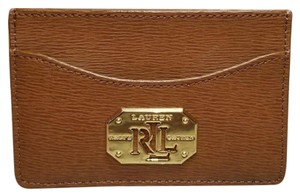 Lauren Ralph Lauren LAUREN by RALPH LAUREN Tan Color Newbury Cow Leather Mini Card Wallet
