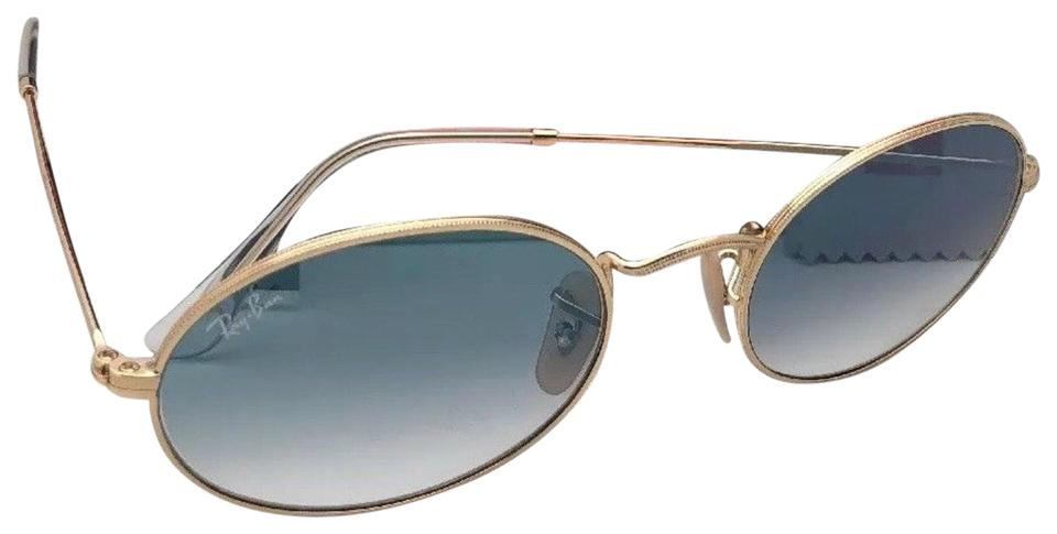 6cbf314b1c4 Ray-Ban New Rb 3547-n 001 3f 54-21 145 Gold Frame W  Blue Gradient ...