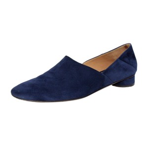 The Row Suede Blue Mules