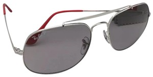 Ray-Ban Polarized RAY-BAN Sunglasses THE GENERAL RB 3561 9108/P2 Silver Frame