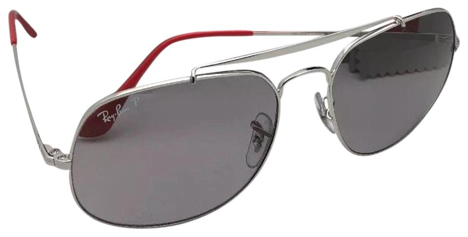 31668c2f029be Ray-Ban Polarized RAY-BAN Sunglasses THE GENERAL RB 3561 9108 P2 Silver ...