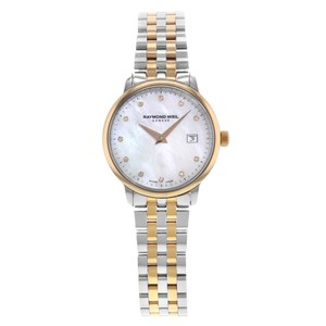 Raymond Weil Toccata Mother Of Pearl Round Dial Two-Tone Steel Quartz Ladies Watch