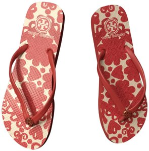 Tory Burch Flip Flop Red Flats