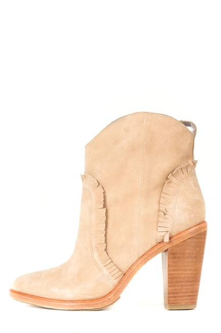 Item - Brown Tan Suede Round Sale Boots/Booties Size EU 37.5 (Approx. US 7.5) Regular (M, B)