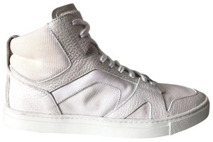 Burberry Mens Wheatfield High Top Skeakers Fashion Optic White Athletic
