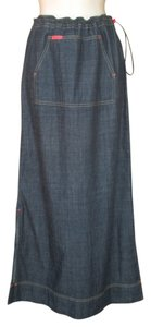 Mavi Jeans Maxi Skirt Dark Denim