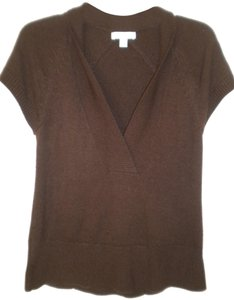 Coldwater Creek Short Sleeve V Neck Sweater