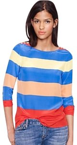 J.Crew Crew Scoopneck Colorblock Top