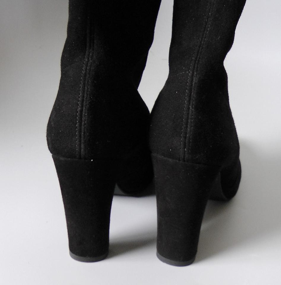 d21cbd5ccad3 Stuart Weitzman Knee High Stretchy Suede Sexy Black Boots Image 7. 12345678