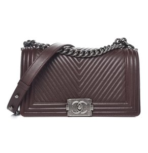 Chanel Chevron Monogram Boy Shoulder Bag