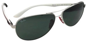 Ray-Ban Ferrari RAY-BAN Sunglasses RB 8313-M F011/71 Silver Red Carbon Fiber