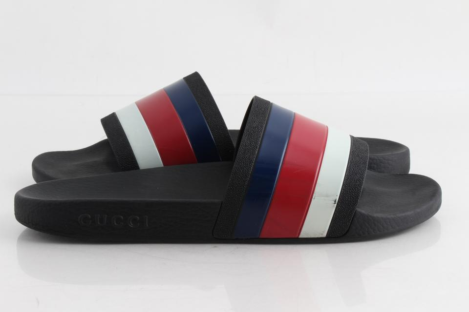 b9a721f26b3e Gucci Multicolor Red White and Blue Pool Side Sandals Shoes Image 0 ...