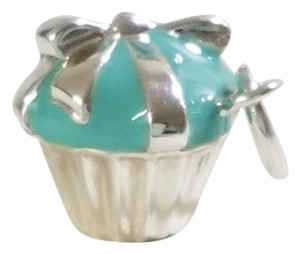 Tiffany & Co. Tiffany & Co Silver Turquoise Blue Enamel Cupcake Cup Cake Charm