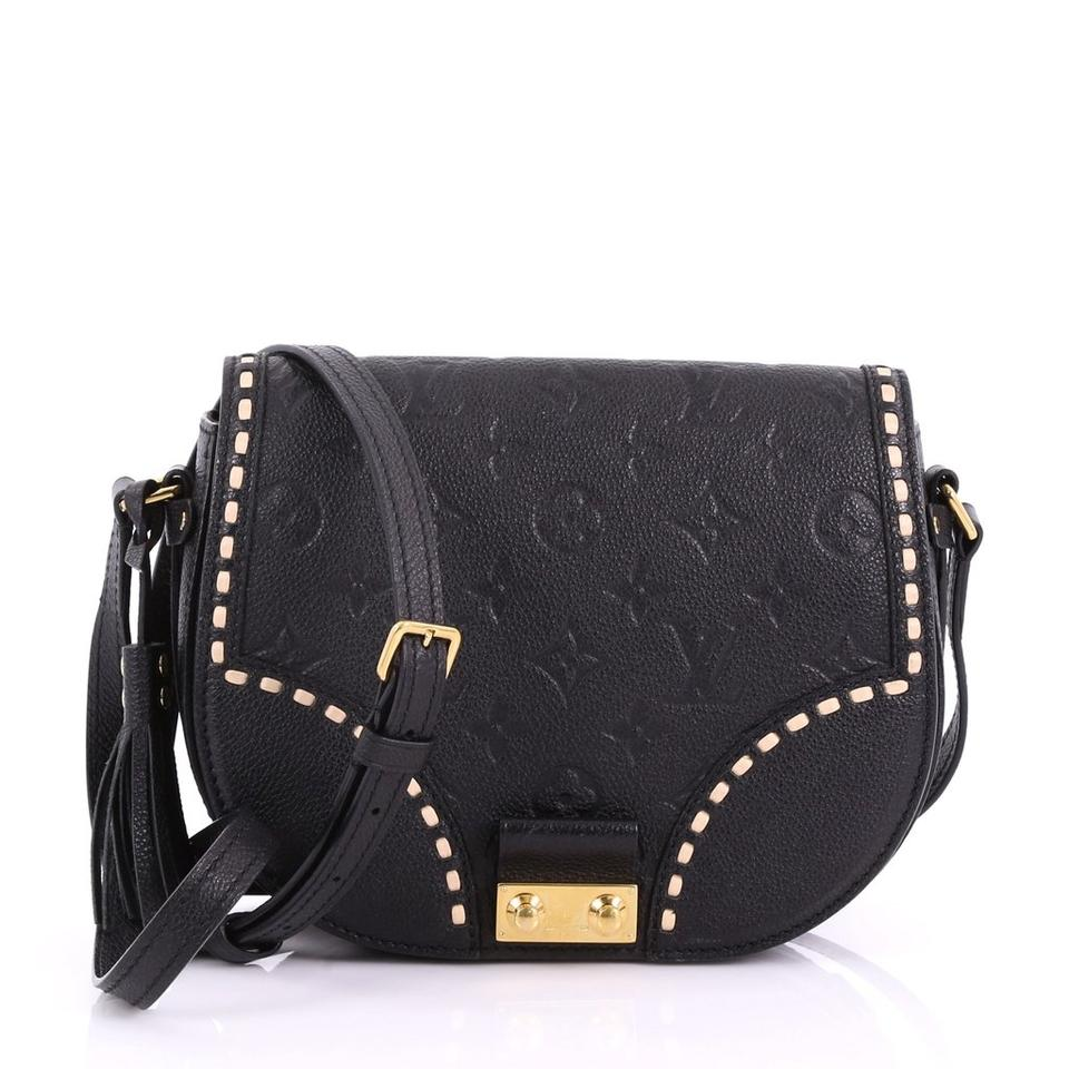 a83903b2b3 Louis Vuitton Junot Handbag Monogram Empreinte Black Leather Cross ...