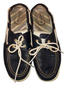 Sperry navy and white Flats