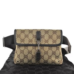Gucci Travel Unisex Gg brown Messenger Bag