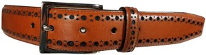 Cole Haan COLE HAAN FEATHER PERFORATED MENS LEATHER BELT CHRM 31063