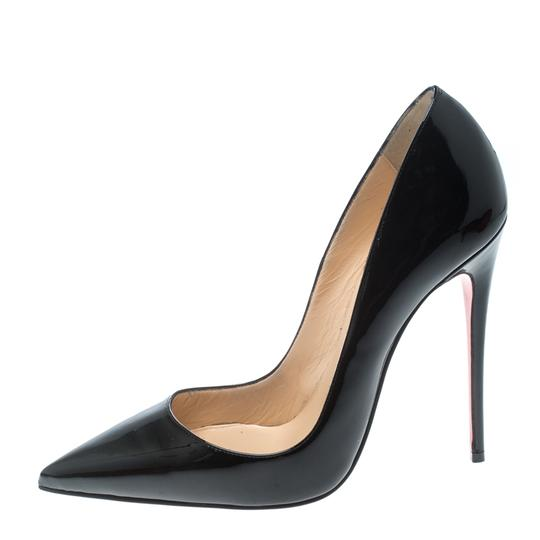 Christian Louboutin Leather Pointed Toe Black Pumps