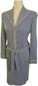 St. John St. John Collection Blue Tweed by Marie Gray Suit Size 8