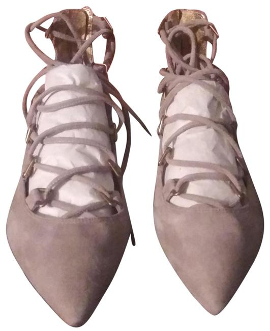 Item - Mouse Gray Kid Suede Gladiator Lace 36 Sandals Size US 6 Regular (M, B)