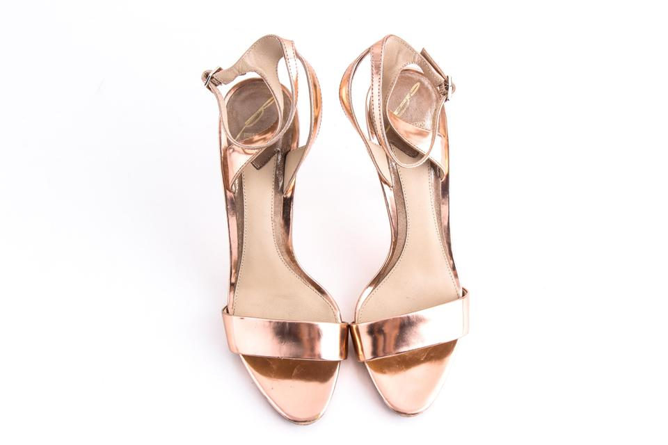 0c907e1d579 Brian Atwood Gold B Catania Mirrored Copper Heels Sandals Size US 7 Regular  (M, B) 54% off retail