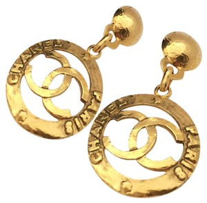 Chanel AUTHENTIC JUMBO CHANEL EARRINGS