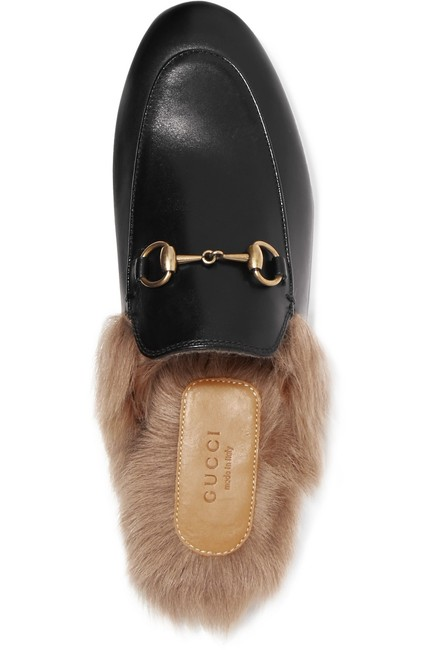 Item - Princetown Horsebit-detailed Shearling-lined Leather Slippers Flats Size EU 35 (Approx. US 5) Regular (M, B)