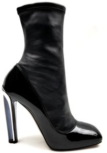 Alexander McQueen Black Leather and Patent Boots