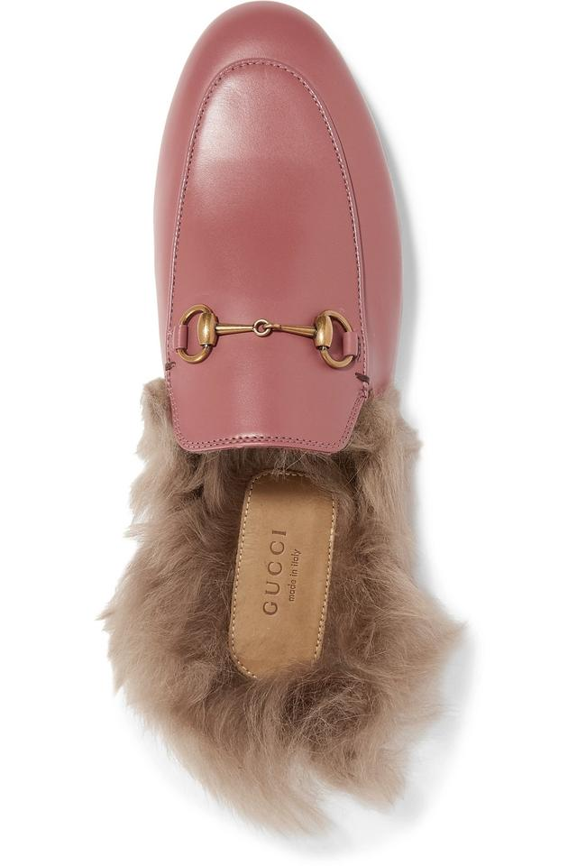 c9a5882e3a3 Gucci Horsebit Princetown Horsebit-detailed Shearling-lined Leather Slippers  Flats