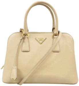 cdbfcd99c5f5 Added to Shopping Bag. Prada Promenade Saffiano Calfskin Shoulder Bag. Prada  Promenade Saffiano Vernice Leather Beige ...