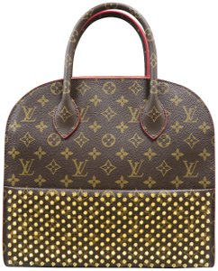 Louis Vuitton Lv Lconoclasts Christian Louboutin Canvas Tote in brown