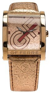 Gianfranco Ferre Pink Gold-Plated Stainless Steel 9046M Women's Wristw