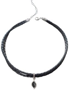 Chan Luu Chan Luu Braided Leather Choker w/ Diamond