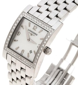Longines White Mother of Pearl Stainless Steel Diamond Dolcevita L5.503.0 Women