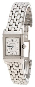 Jaeger-LeCoultre White/Mother of Pearl Stainless Steel Diamonds Reverso Classic Duetto